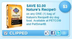 printable nature s recipe dog food coupons nature s recipe dog food printable coupon