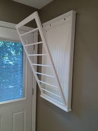 ideas beadboard drying rack wall mounted expandable clothes