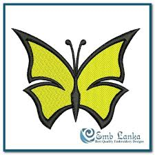 free yellow butterfly embroidery design emblanka com