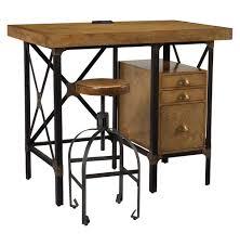 lucien industrial loft brown oak standing desk with stool kathy
