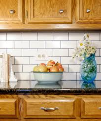 Grout Kitchen Backsplash by Subway Tile Backsplash With Stainmaster Glamour Grout Albion Gould