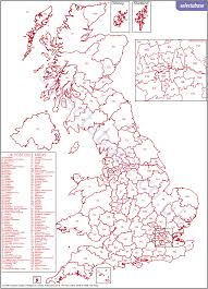 Yorkshire England Map by Postcode Tools