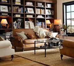 pottery barn leather sofa sleeper new lighting
