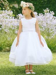 flower girl dresses girl s white glitter bodice w organza skirtt communion