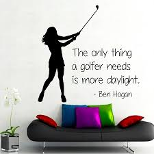 high quality gym design buy cheap lots from golfer wall decals quote gym sport girl golf player word home interior design vinyl decal art