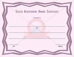 11 best soccer achievement award templates images on pinterest