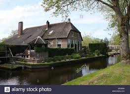 Giethoorn Holland Homes For Sale by Waterways And Canals In The Popular Tourist Village Of Giethoorn