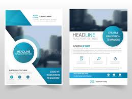 technical brochure template blue circle technology business brochure leaflet flyer annual