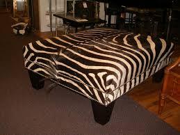 Zebra Chair And Ottoman Furniture Attractive Square Zebra Ottoman Decorative Zebra