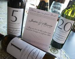 Anniversary Wine Bottles Guest Book Anniversary Wine Labels 4 6 Labels And Instructional