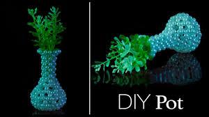Beaded Vases How To Make A Flower Vase Diy Flower Pot Youtube