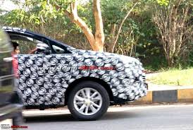 toyota lexus 2016 price in india scoop 2016 toyota innova spotted testing in bangalore more pics