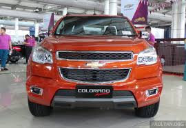 chevy colorado lowered chevrolet colorado sport edition revealed rm139k