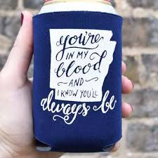 wedding koozie favors arkansas wedding favor koozies in 30 colors options