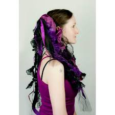 eggplant ribbon eggplant purple and black ribbon hair falls by dreadful