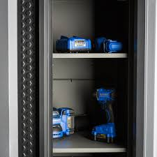 Kobalt Storage Cabinets Shop Kobalt 30 In W X 72 37 In H X 20 5 In D Steel Freestanding Or