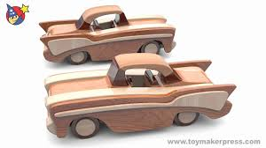 Homemade Wooden Toy Trucks by Wood Toy Plans Classic Cars 57 Chevy Youtube