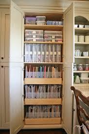 Craft Storage Cabinet Scrapbook Room With Built In Craft Storage