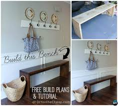 Wood Bench Plans Easy by 20 Best Entryway Bench Diy Ideas Projects Picture Instructions