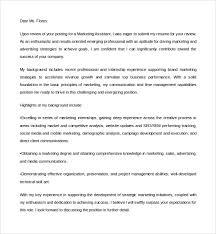 cover letter marketing assistant letters font