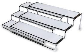3 tier kitchen cabinet organizer expandable shelf 3 amazon com decobros 3 tier expandable cabinet