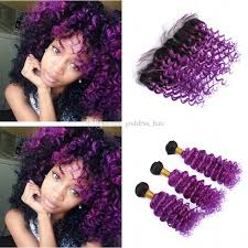 purple hair extensions 2018 ombre color 1b purple curly hair extension with frontal