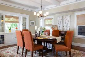 Trendy Dining Rooms With Spunky Orange - Burnt orange dining room