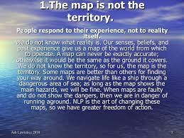 the map is not the territory 13 nlp presuppositions