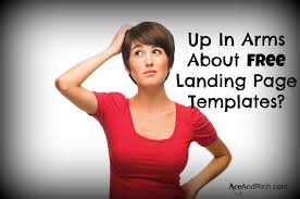 up in arms about free landing page templates