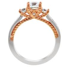 ring setting artcarved marlow diamond engagement ring setting in 14kt white and