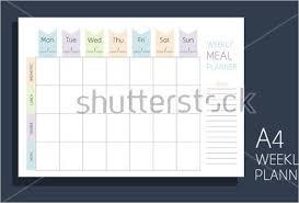 10 menu calendar templates free printable sample menus creative