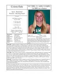 Swim Coach Resume Examples by 9 Basketball Resume Template For Player Resume Professional