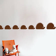 woodland hedgehog family wall sticker decal by snuggledust studios