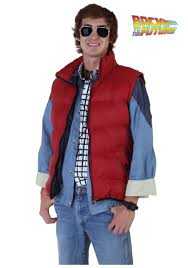 marty mcfly costume back to the future marty mcfly vest