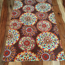 autumn harvest table linens indian flower fall harvest table runner brown red aqua yellow