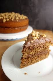 nutella frosted coffee cake a dash of ginger