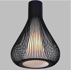 Black Hanging Light Fixture Black Wrought Iron Pendant Light Italy Design Modern Birdcage