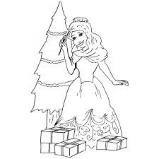 christmas belle colouring pages for children to print