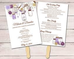 Wedding Ceremony Fan Programs Wedding Program Fan Etsy
