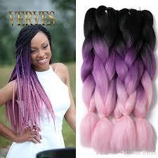 ombre kanekalon braiding hair verves ombre kanekalon braiding hair braid synthetic purple pink