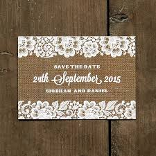 Rustic Save The Date Vintage Lace Save The Date Card By Feel Good Invites