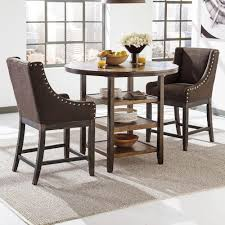 three piece table set signature design by ashley moriann 3 piece counter table set with