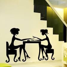 vinyl wall decals sticker beauty salon girls manicure interior art see larger image