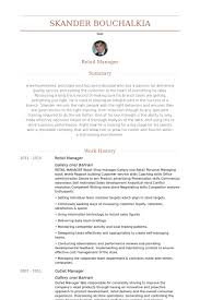 retail manager resume exles retail manager resume sles visualcv resume sles database