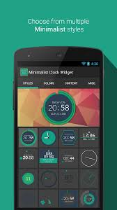 minimalist clock widget apk thing android apps free download