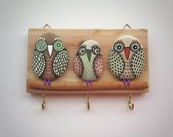 Bird Hooks Home Decor Key Holder Wall Hook Wood Key Holder Wall Decor Wall Hanging