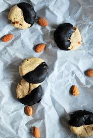 fudge dipped almond cookies gluten free vegan fooduzzi