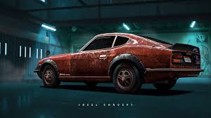 nissan fairlady 240zg artstation nfs payback art collection jreel concept