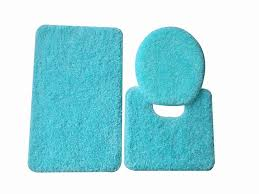 Bathroom Rug Bathroom Full Size Plain Blue Bathroom Rug Sets In Three