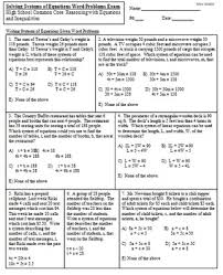 solve systems of equations given word problems exam mrs math by